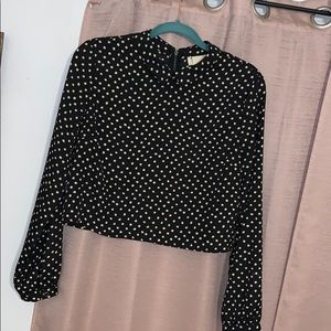 Urban Outfitters. Women's. Collared polka dot Top.